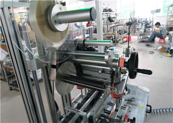 Auto Top Labeling Machine Flat Surface Label Applicator With Conveyor / Top Labeling Equipment