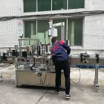 دستگاه کاملاً اتوماتیک برچسب زدن بطری آب برای بطری شیشه ای / PET
